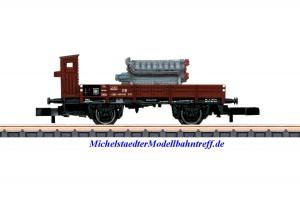 (Neu) Märklin 82334 Spur Z Niederbordwagen X05, Ladung: Großdieselmotor, DB, Ep.III,