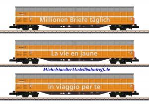 (Neu) Märklin 82417 Spur Z Schiebewandwagen-Set, SBB, Ep.VI,
