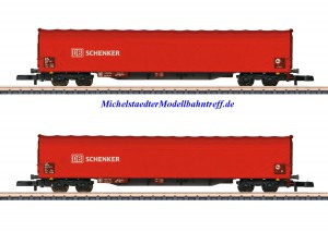 (Neu) Märklin Spur Z 82426 Schiebeplanenwagen-Set DB AG Ep.VI,