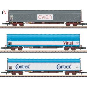 (Neu) Märklin Spur Z 82427 Güterwagen-Set der SNCF, Ep.V,