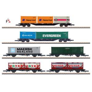 (Neu) Märklin Spur Z 82665 Set Containertransport der DB AG, Ep.V,