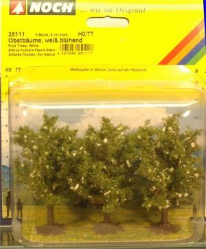 (Neu) Noch 25111 Obstbäume,weiß blühend, H0,TT,