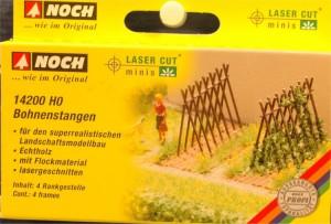 """(Neu) Noch 14200 Laser Cut """"Bohnenstangen"""", H0,"""