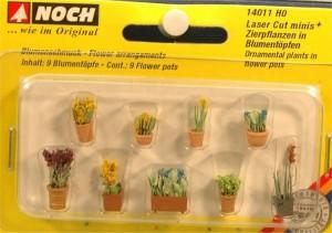 (neu) Noch 14011 Laser Cut minis, Zierpflanzen in Blumentöpfen,