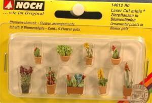 (Neu) Noch 14012 Laser Cut minis, Zierpflanzen in Blumentöpfen,