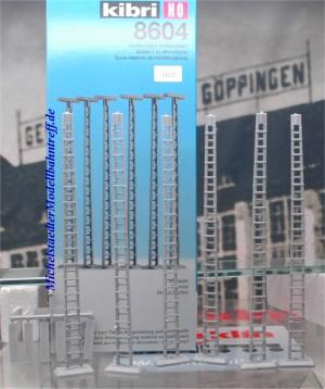 Kibri 8604 H0 Attrappen einer  Bahnsteiglampe, (6 Stck.),