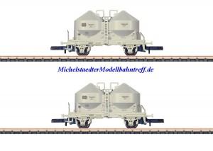 (Neu) Märklin 86665 Spur Z Staubsilo-Wagenset, DB, Ep.IV,