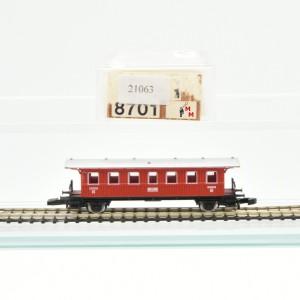 Märklin 8701 Spur Z Württembergischer Personenwagen 2.Klasse, (21063)