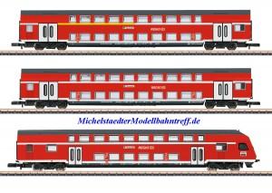(Neu) Märklin 87297 Spur Z Doppelstockwagen-Set, DB, Ep.V,