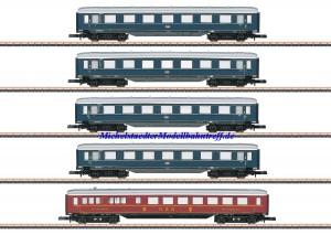 (Neu) Märklin Spur Z 87357 Schnellzugwagen-Set DB Ep.III,
