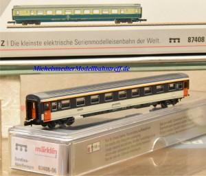 (Neu) Märklin MHI 87408-06 Spur Z Reisezugwagen der SNCF, 2. Kl.,