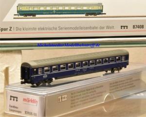 (Neu) Märklin MHI 87408-08 Spur Z Eurofima-Liegewagenwagen der SBB, 2. Kl.,