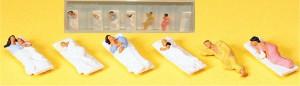 (Neu) Preiser 10300 Liegende Fahrgäste für Schlafwagen,