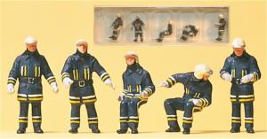(Neu) Preiser 10487 Feuerwehrmänner am Fahrzeug,