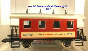 """Märklin Maxi 54717 Plattformwagen """"10 Jahre Sonneberg"""", (16504)"""