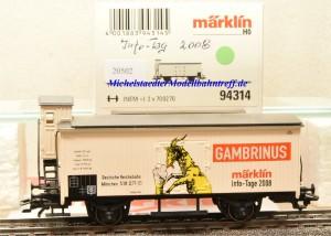 Märklin 94314 Info-Tage-Wagen 2008, (20502)