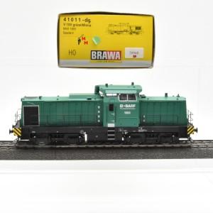 """Brawa 41011 Diesellok BR V100, Privatlok der BASF, """"Grüne Minna"""", Wechselstrom-digital, (20968)"""