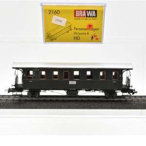 Brawa 2160  2-achsiger Personenwagen 2 Kl. der DB, (23240)