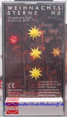 (Neu) Busch 5415 Weihnachtssterne gelb, beleuchtet,