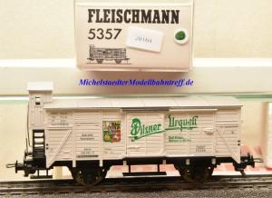"""Fleischmann 5357 K Bierwagen mit Bremserhaus """"Pilsner Urquell"""", (20164)"""