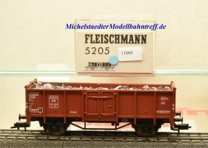 Fleischmann 5205 Offener Güterwagen mit Ladegut, DB, (11069)