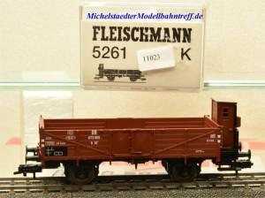 Fleischmann 5261 K Offener Güterwagen mit Bremserhaus DB, (11023)
