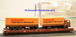 Fleischmann 5277 Niederflurwagen DB mit LKW, (11762)