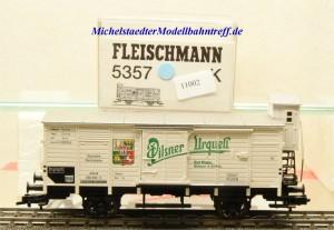 """Fleischmann 5357 K Bierwagen mit Bremserhaus """"Pilsner Urquell"""", (11002)"""