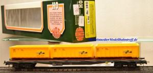 Hag 380 Flachwagen mit Container der Fa. ACTS, SBB, Wechselstrom, (20116)