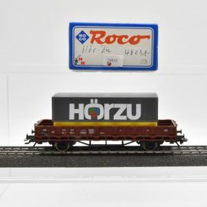"""Roco 46031-03 Rungenwagen der DB mit Wechselpritsche """"Hörzu"""", (20923)"""
