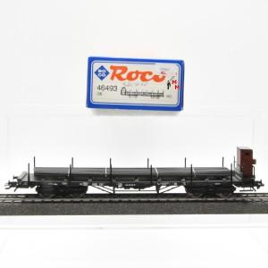 Roco 46493 Flachwagen der DB mit Stahlträger, Wechselstrom, (20901)
