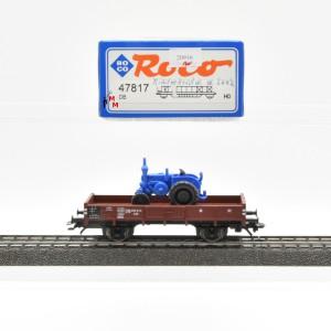 Roco 47817 Niederbordwagen der DB mit Lanz Bulldog, Wechselstrom, (20916)