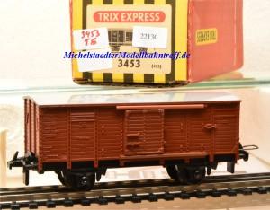 Trix Express 3453 Gedeckter Güterwagen der DB, (22130)