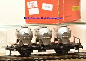 Trix Express 3459 Behältertragwagen der DB, (22143)