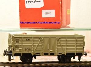 Trix Express (3)414 Offener Güterwagen der DB, grau, (21946)