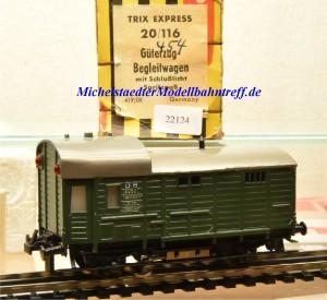 Trix Express 20/116 Güterzug-Begleitwagen mit Schlußlicht, Guss, (22124)