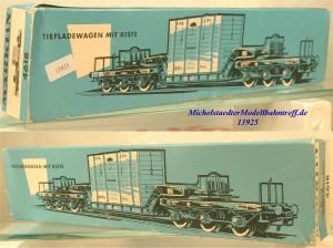 Märklin L 4618 Leerkarton Tiefladewagen mit Kiste, (13925)