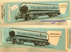 """Märklin L 4632 Leerkarton Bierwagen """"Feldschlösschen"""", (13917)"""