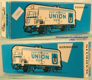 """Märklin L 4634 Leerkarton Bierwagen """"Dortmunder Union"""", (13926)"""