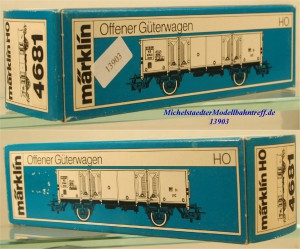 Märklin L 4681 Leerkarton Offener Güterwagen, (13903)