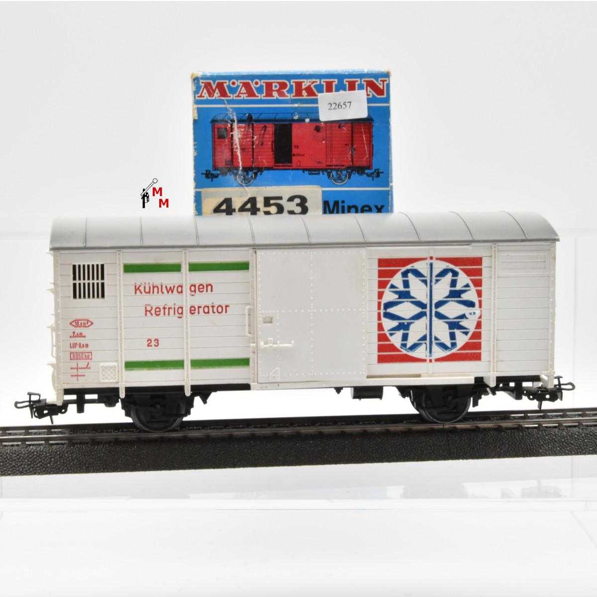"""Märklin 04453.1 Minex Ged. Güterwagen """"Kühlwagen Refigerator"""", (22657)"""