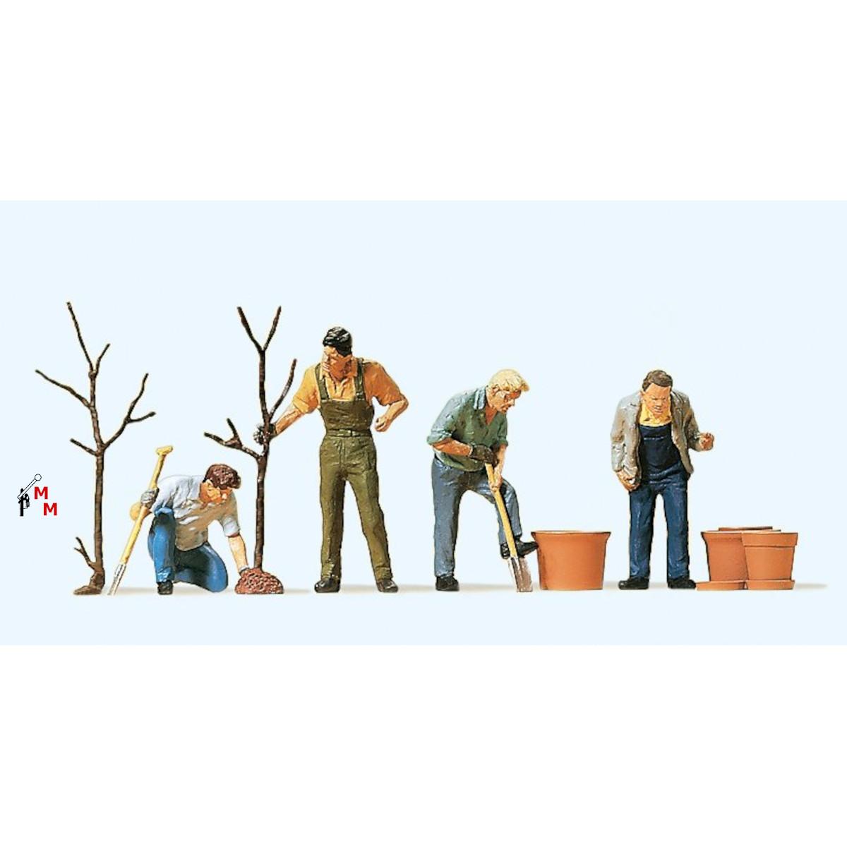 (Neu) Preiser 10466 Beim Pflanzen,