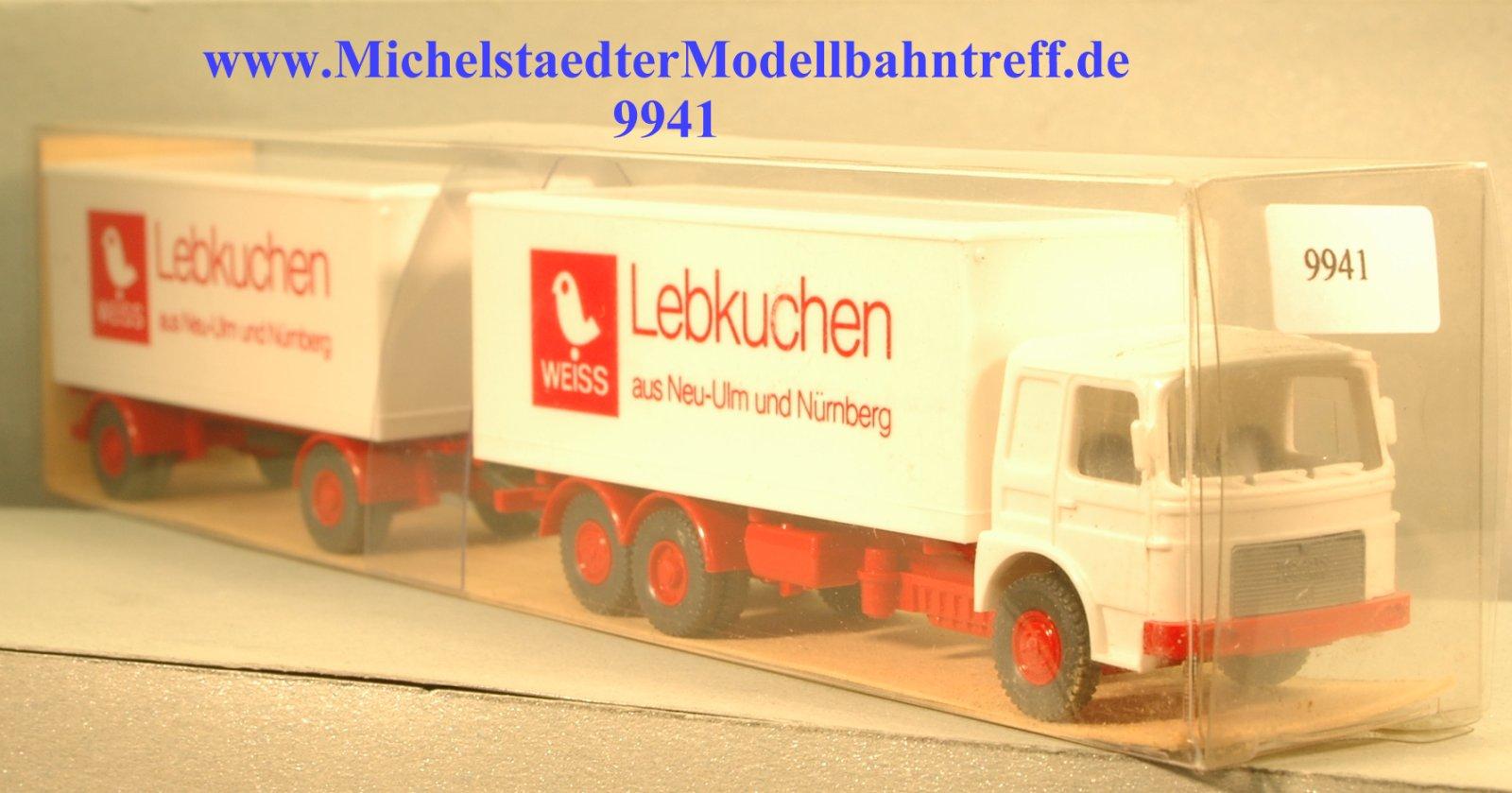 """Wiking 471/1 MAN-Fernlastzug, """"Lebkuchen"""", (9941)"""
