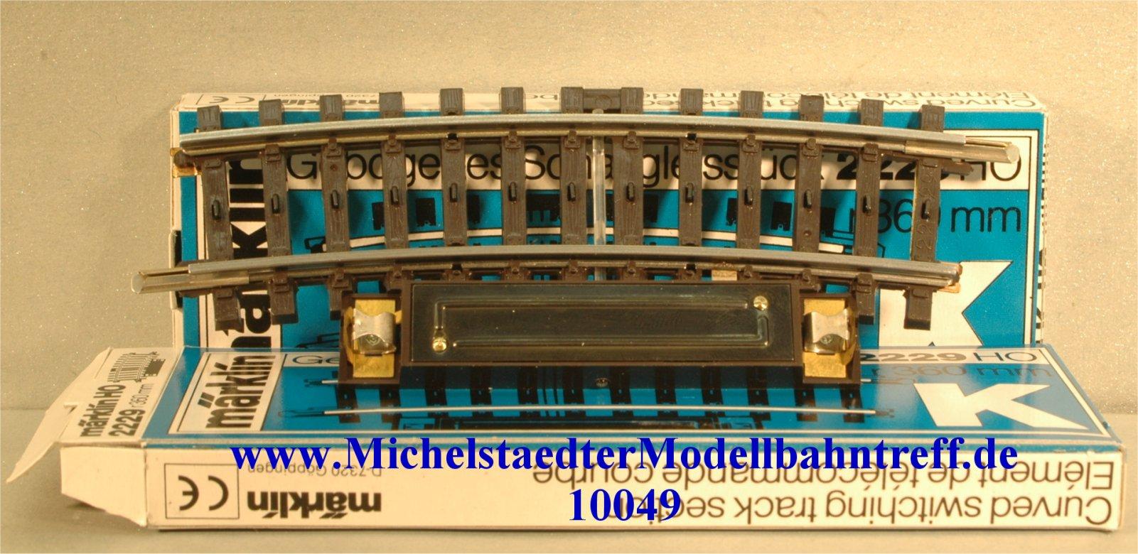 Märklin 2229 Schaltgleis gebogen, (10049)