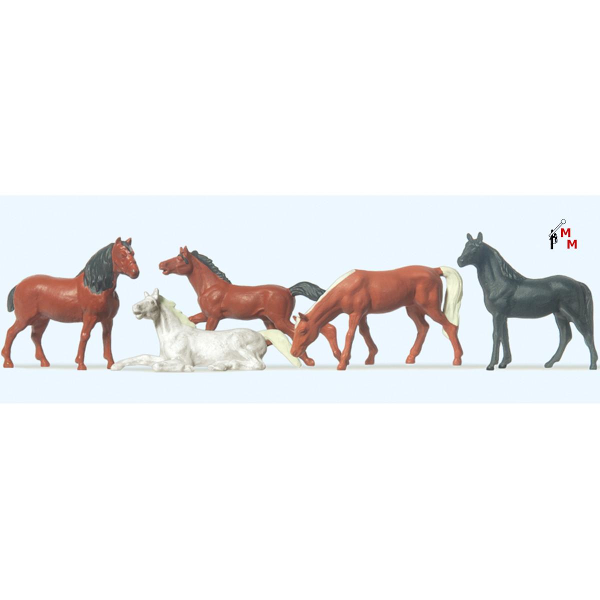 (Neu) Preiser 14150 Pferde,