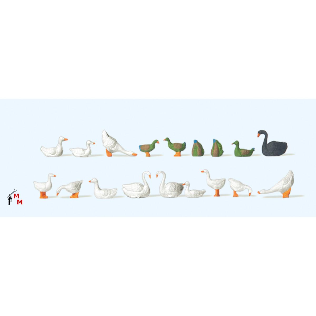 (Neu) Preiser 14167 Enten, Gänse, Schwäne,