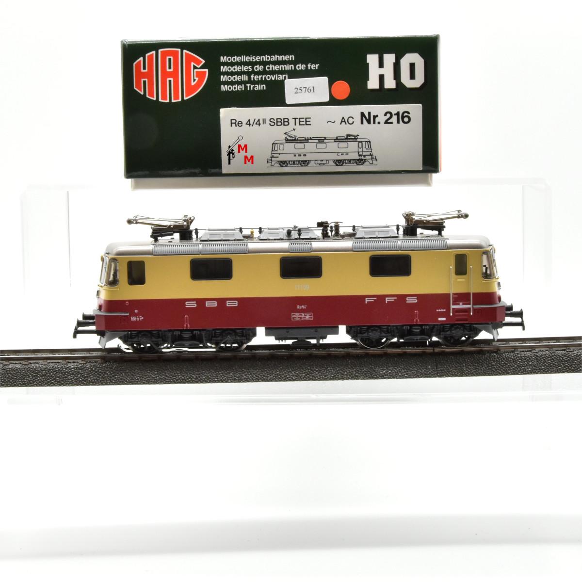HAG 216 E-Lok BR Re 4/4II TEE Ausführung, Wechselstrom, digital, (25761)