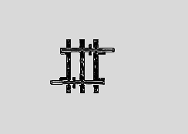 (Neu) Märklin 2204 gerades Gleis 22,5 mm,