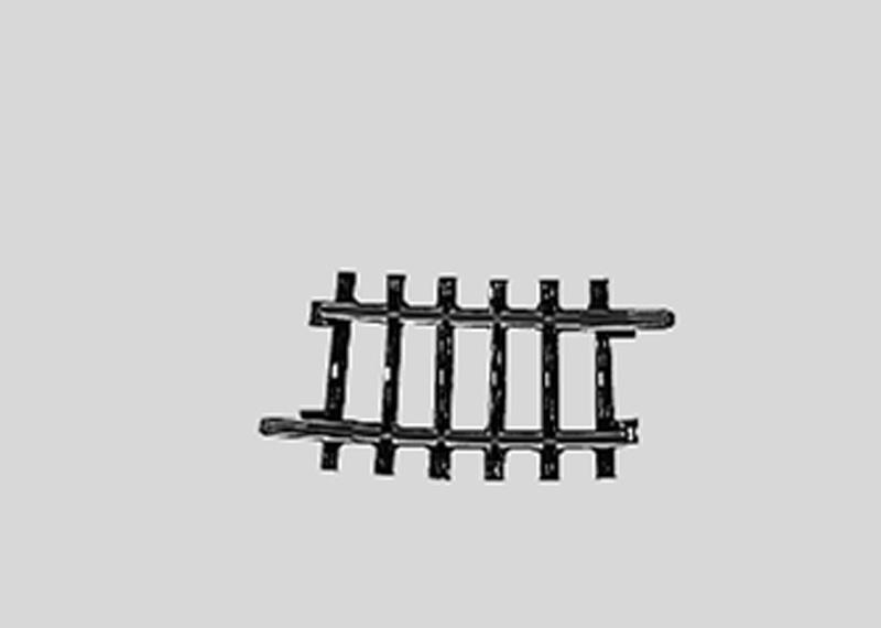(Neu) Märklin 2224 geb. Gleis Normalkreis I  7°, 1/4