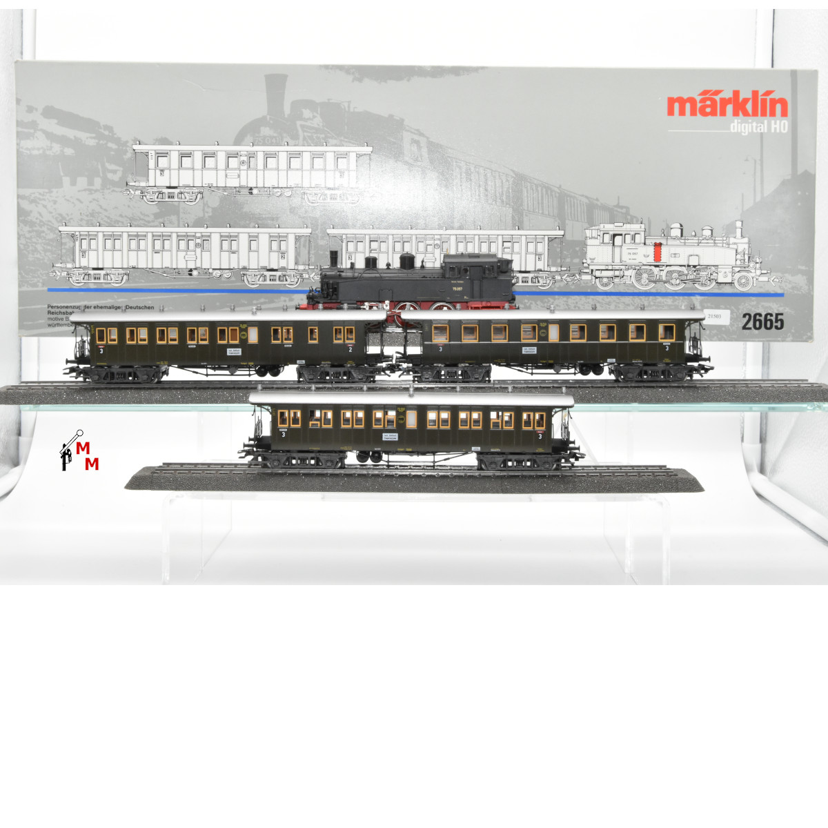 Märklin 2665 Personenzug der ehem. Deutschen Reichsbahn-Gesellschaft, (21503)